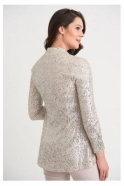 Joseph Ribkoff Sequin Detail Cover Up - Silver/Nude - 204192