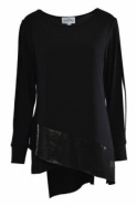 Joseph Ribkoff Sequin Embellished Tunic (Black) - 164476