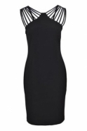 Joseph Ribkoff Strap Shoulder Detail Dress (Black) - 173028