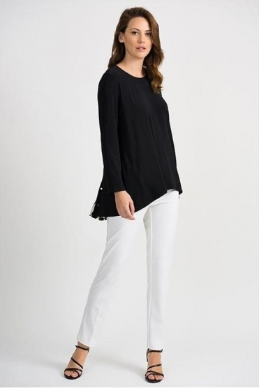 Stripe Insert Tunic - Black/Vanilla - 201239