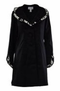 Joseph Ribkoff Structured Collar Monochrome Coat (Black) - 183503