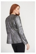 Joseph Ribkoff Stud Detail Soft Touch Jacket - Silver - 203271