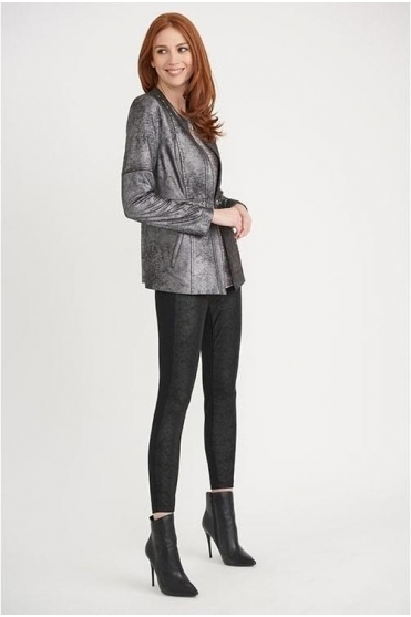 Stud Detail Soft Touch Jacket - Silver - 203271