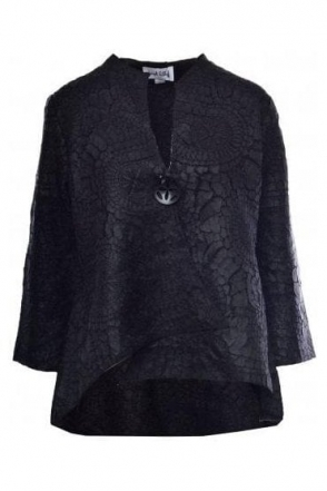 Textured Laser Cut Jacket (Black) - 184993X