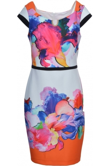 Tropical Floral Cap Sleeve Dress - 181749