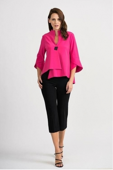 Tulip Sleeve Swing Jacket - Hyper Pink - 201444