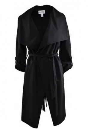 Waterfall Drape Coat (Black) - 161304