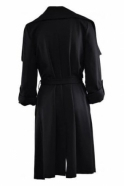 Joseph Ribkoff Waterfall Drape Coat (Black) - 161304