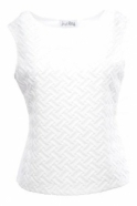 Joseph Ribkoff Woven Cross Pattern Top - 171464