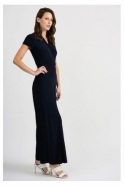 Joseph Ribkoff Wrap Over Flared Jumpsuit - Midnight - 201146