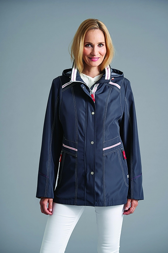 Junge Hooded Rain Jacket  - Deep Blue - 2287-87-50