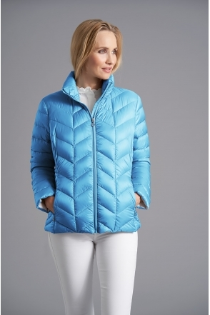 Light Down Jacket - Aqua - 2240-62-57