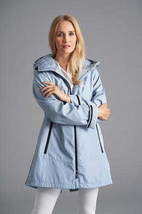 Lined Rain Jacket - Dove Blue - 2288-87-52