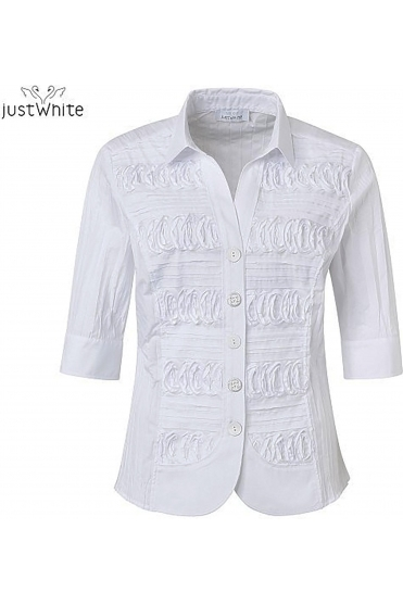 3/4 Sleeve 3D Tailored Shirt - White - 43841-010