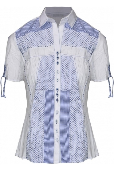 3D Textured Stripe Shirt - 41271