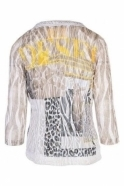 Just White Abstract Print Two-Piece Set - Beige/Yellow - 42503/42502