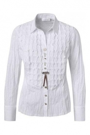 Button Detail 3d Tailored Shirt - White - 43405