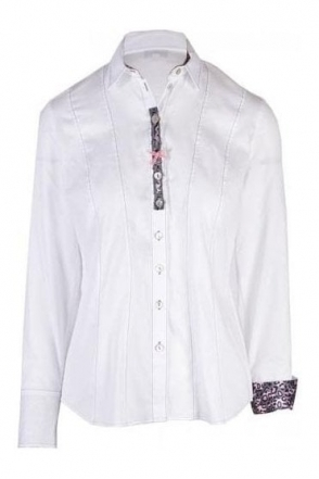 Button Detail Tailored Shirt - White - 62947