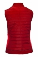 Just White Contrast Textured Panel Gilet - Red - 41722