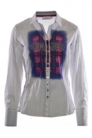 Crinkled Embellished Shirt - 41984
