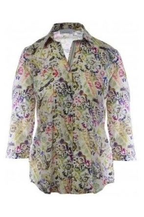 Floral Detail Cotton Shirt - 41221