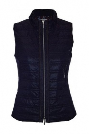 Quilted Panel Gilet - Navy - 43440