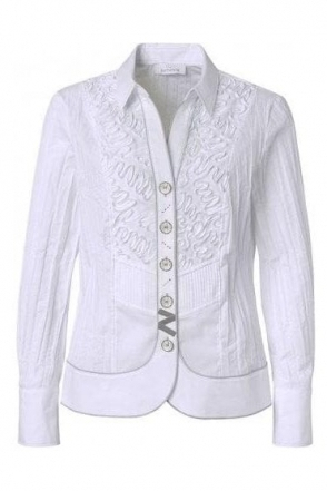 Ribbon 3D Tailored Shirt - White - 43410