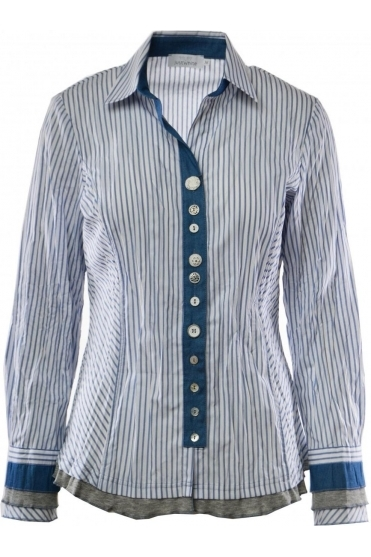 Stripe Frill Detail Shirt - 41151