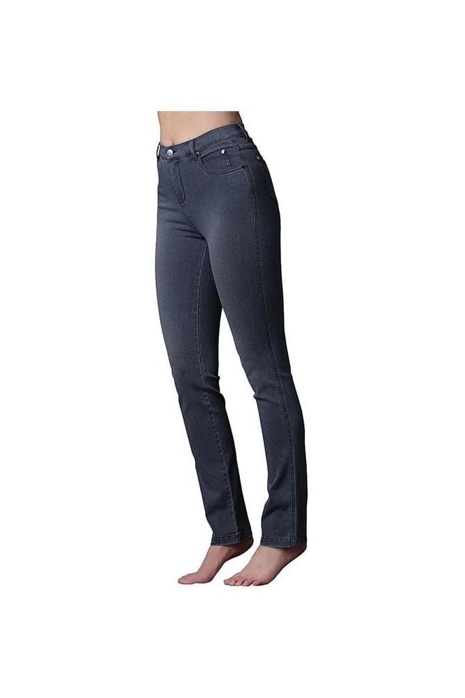 Marble 4 Way Stretch Slim Straight Leg Jeans - Grey - 2408-182