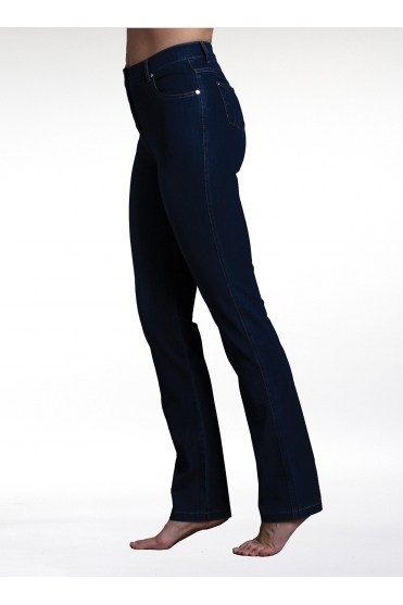 4 Way Stretch Slim Straight Leg Jeans - Indigo - 2408-183