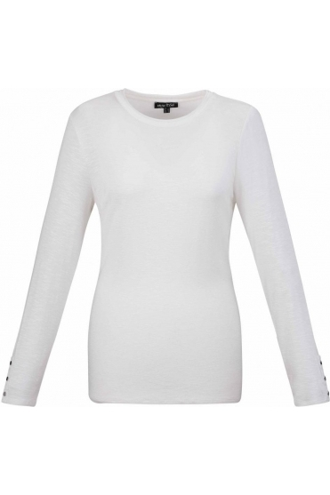 Basic Long Sleeve Top - Ivory - 5527-104