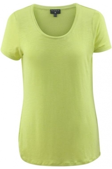 Basic Round Neckline Top - Lime - 5708-163
