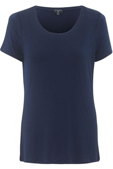 Basic Round Neckline Top - Navy - 5708-103