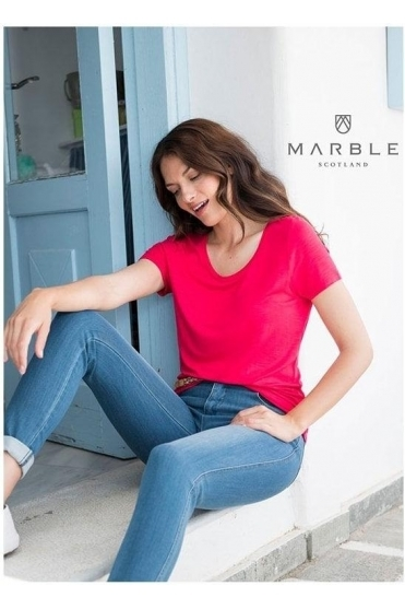 Basic Round Neckline Top - Red - 5708-109