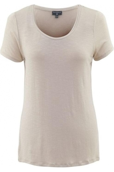 Basic Round Neckline Top - Sand - 5708-185