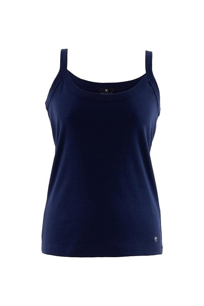 Marble Basic Vest Top - Navy - 2534-103