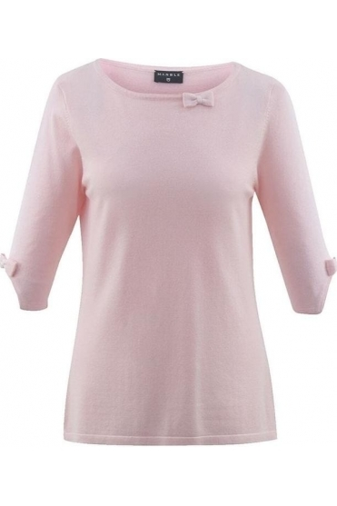 Bow Sleeve Detail Jumper - Powder Pink - 5601-120