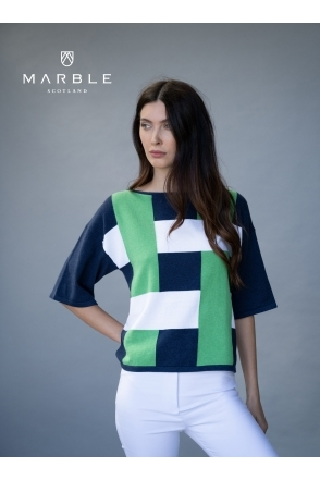 Colour Block Sweater - Green - 6112-124