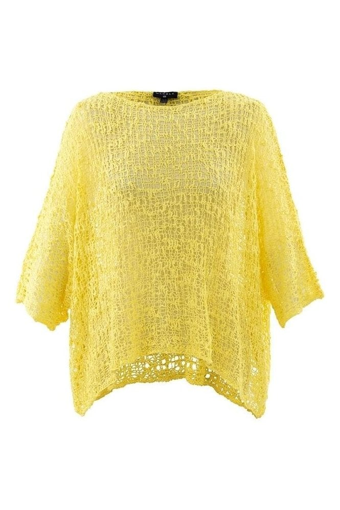 Marble Crochet Cropped Knit - Yellow - 5186-152