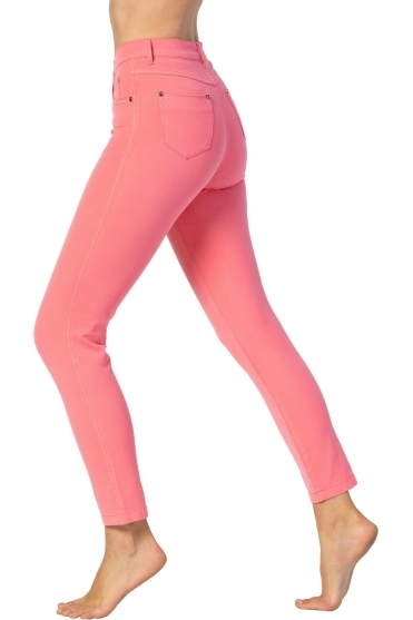 Cropped Soft Skinny Leg Jeans - Watermelon - 2400-135