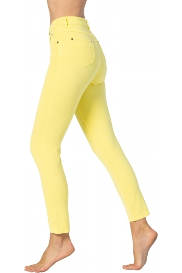 Cropped Soft Skinny Leg Jeans - Yellow - 2400-152