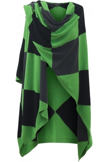 Diamond Print Cape - Green - 5499-178