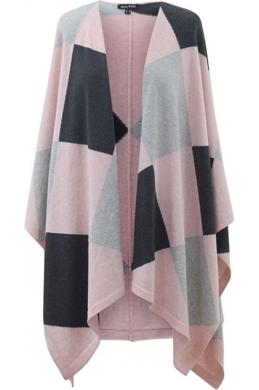 Diamond Print Cape - Pale Pink - 5499-120