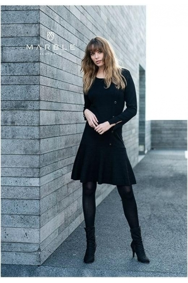 Fine Knit Button Detail Jumper Dress - 5815-101