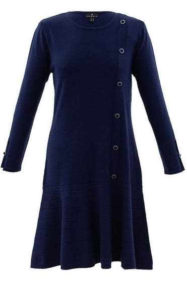 Fine Knit Button Detail Jumper Dress - 5815-103