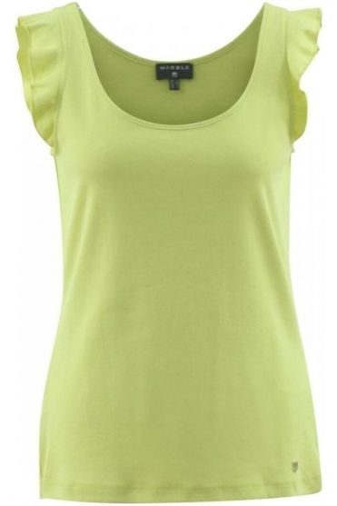 Frill Sleeve Top - Lime - 5657-163