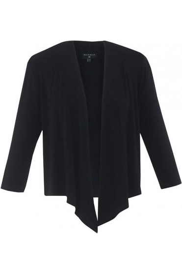 Short Length Drape Cardigan - Black - 5706-101