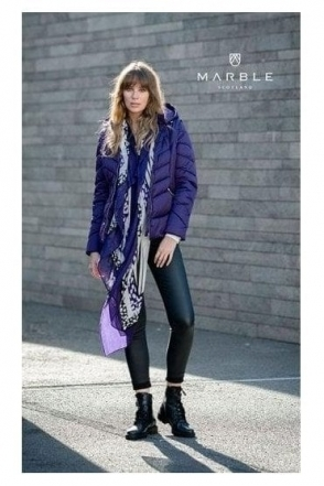 Shower Resistant 2 in 1 Quilted Jacket - Purple - 5949-187