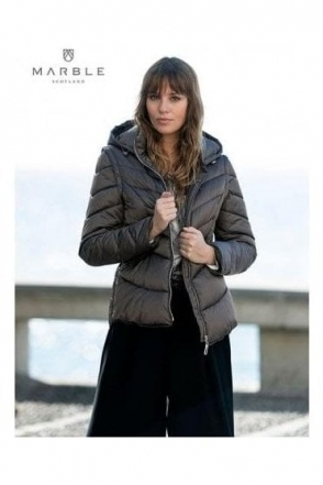 Shower Resistant 2 in 1 Quilted Jacket - Sable Brown - 5949-159