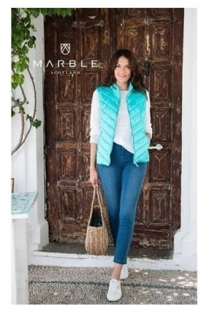 Shower Resistant Quilted Gilet - Aqua - 5739-151